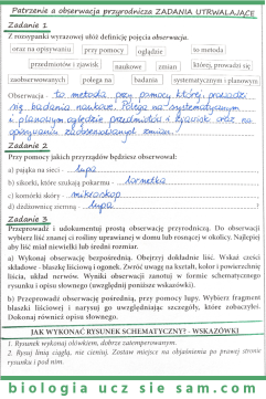 Obserwacja przyrodnicza - karta pracy do druku